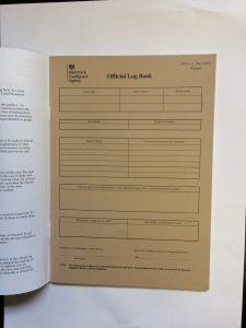 MCA ships official log book